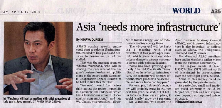 Asia 'needs more infrastructure'