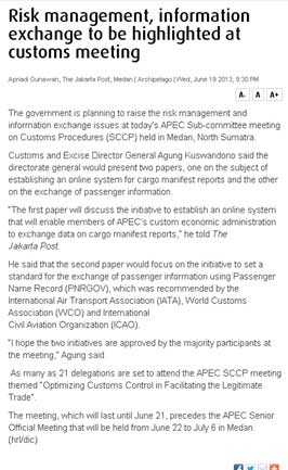 RI to Rise Risk Management, Information Exchange Issues at APEC's Customs Meeting