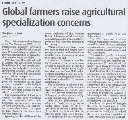 Global Farmers Raise Agricultural Specialization Concerns