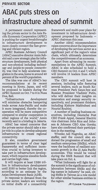 ABAC Puts Stress on Infrastructure Ahead of the Summit